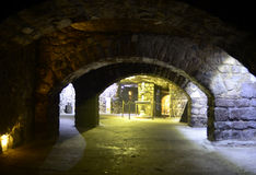 Il labirinto di Buda Castle Fotografia Stock Libera da Diritti
