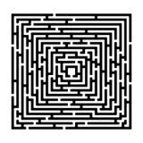 Il labirinto di rettangolo izolated su bianco Fotografia Stock Libera da Diritti