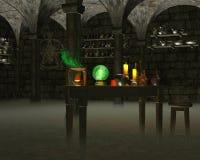 Il laboratorio dell'alchimista Immagine Stock