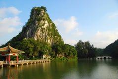 Il lago 6 star (Zhaoqing, in Cina) fotografia stock libera da diritti