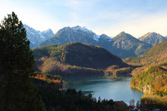 Il lago alps in Germania Fotografia Stock