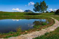 Il lago in altura - the lake royalty free stock image
