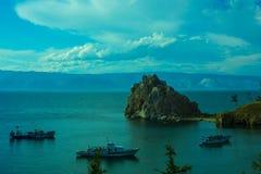 Il lago Baikal di estate Fotografie Stock