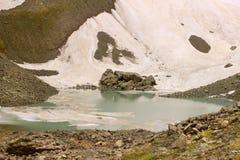 Il lago bianco Abudelauri (Georgia) Fotografie Stock Libere da Diritti