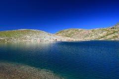 Il lago blu Fotografia Stock