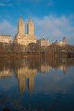 Il lago, Central Park, NYC Fotografie Stock Libere da Diritti