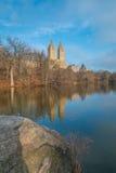 Il lago, Central Park, NYC Fotografia Stock Libera da Diritti