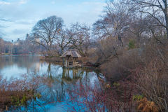 Il lago, Central Park, NYC Fotografie Stock