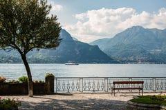 Il lago Como Fotografie Stock