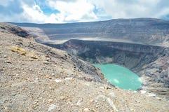 Il lago del cratere di Santa Ana Volcano, El Salvador Fotografia Stock