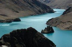 Il lago del ghiacciaio del plateau Fotografia Stock