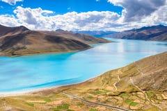 Il lago del yamdrok Fotografia Stock