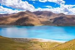 Il lago del yamdrok Immagini Stock Libere da Diritti