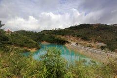 Il lago di colore di qicaihu sette Immagini Stock