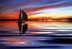 Il lago di coloritura Fotografie Stock