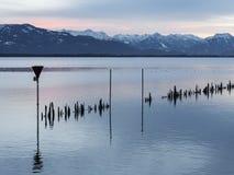 Il lago di Costanza sul tramonto Fotografie Stock