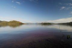 Il lago di yate Fotografia Stock