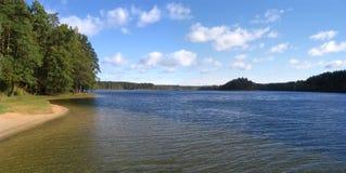 Il lago Dubingiai Fotografie Stock Libere da Diritti