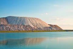 Il lago e i terricones del solt Fotografia Stock Libera da Diritti