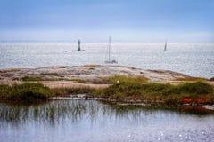 Il lago ed il mare, vedono un lago Immagini Stock