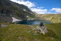 Il lago eye, i sette laghi Rila, montagna di Rila Fotografie Stock