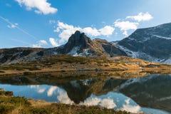 Il lago gemellato - il più grande nella regione dei sette laghi Rila Fotografia Stock Libera da Diritti