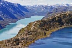 Il lago Gjende in Norvegia Fotografie Stock Libere da Diritti