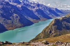 Il lago Gjende in Norvegia Immagini Stock Libere da Diritti