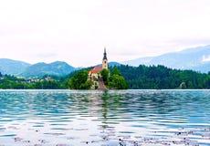 Il lago ha sanguinato Fotografie Stock