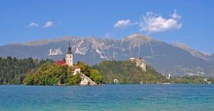 Il lago ha sanguinato, alpi di Julian, Slovenia Immagine Stock Libera da Diritti