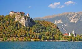 Il lago ha sanguinato, alpi di Julian, Slovenia Fotografie Stock