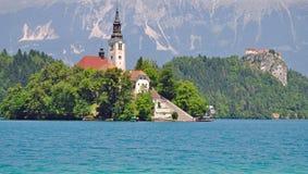 Il lago ha sanguinato, alpi di Julian, Slovenia Fotografia Stock