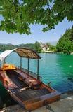 Il lago ha sanguinato, alpi julian, Slovenia Fotografia Stock
