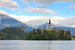 Il lago ha sanguinato, la Slovenia, Europa Immagini Stock Libere da Diritti