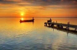 Il lago i i traghettatori Immagine Stock Libera da Diritti