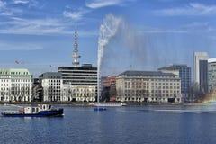 Il lago interno Alster (Binnenalster), Amburgo, Germania Fotografia Stock Libera da Diritti