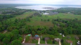Il lago Jackson ha sparato con un fuco dell'antenna del fantasma 4 di dji stock footage