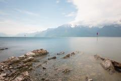 Il lago Léman Fotografia Stock Libera da Diritti
