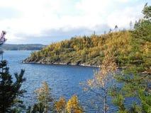 Il lago Ladoga Immagine Stock