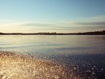 Il lago Ladoga in Russia Immagine Stock Libera da Diritti