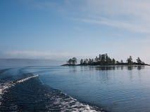 Il lago Ladoga in Russia Fotografia Stock