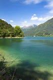 Il lago Ledro Fotografie Stock