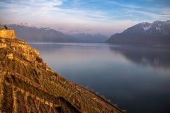Il lago Lemano Fotografia Stock