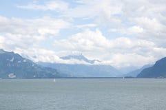Il lago Lemano di estate immagine stock libera da diritti