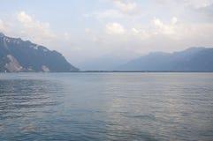 Il lago Lemano di estate fotografia stock libera da diritti