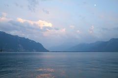Il lago Lemano di estate immagine stock