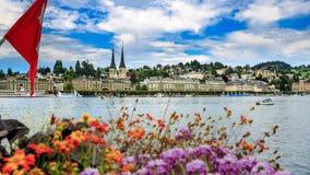 Il lago Lucerna fotografie stock libere da diritti