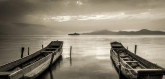 Il lago Lugu Immagine Stock Libera da Diritti
