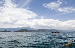 Il lago Lugu Fotografia Stock