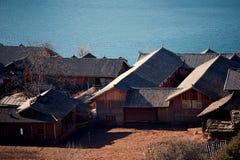 Il lago Lugu di mattina della Cina il Yunnan Fotografia Stock Libera da Diritti